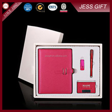4 in 1 Business Card Holder And Pen Gift Set With USB Flash Driver And Notebook Promotion Gift Set