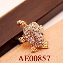 fashion metal animal turtle shaped ring rings jewellery