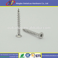 High Strength Stainless Steel Square Bugle Head Chipboard Screw