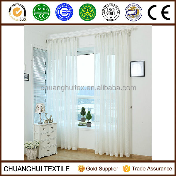 2015 new product stripe sheer curtain valance curtain patterns good drape effect