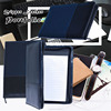 Mixed Color Leather Business Portfolio Zipper Leather File Document Folder
