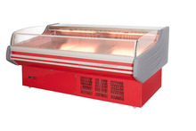 air curtain meat showcase refrigerator/red color meat refrigerator display