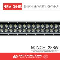 50 inch led light bar, Auto Black Straight led lights, 288w led light bar For Jeep Wrangler JK