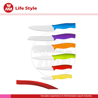 WMM 6pcs kitchen knife with various color ceramic knife set with utility knife included