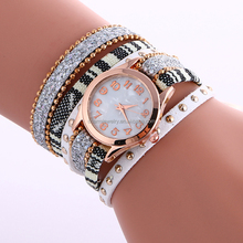 Fashion Weave Wrap Leather Ladies Bracelet Watches for Woman Wrist Watch BWL214