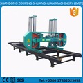 large horizontal band saw with diesel engine large log cutting horizontal band saw