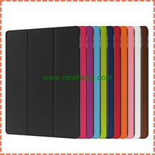 New arrival folding ultra thin smart cover leather case for ipad pro