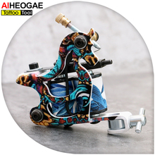 Wholesale- TM3057 Handmade Tattoo Gun Fashion Design Wrap Coil Tattoo Machine