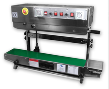 FRM-980 ink printing horizontal vertical double use Continuous band sealer, maquina selladora