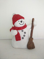 Factory customed resin snowman best selling christmas items