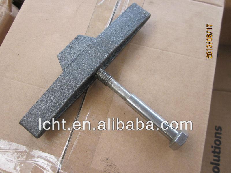 Ductile iron T-cast bolt
