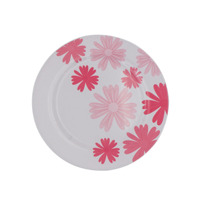 Cheap 11 inch Melamine Dinner plate with red flower design