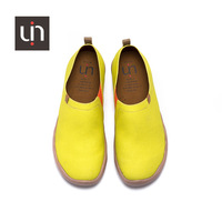 UIN plain Lemon Yellow color plain color canvas shoes