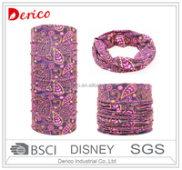 Girl's Fashion Paisley Seamless Multifunctional Tube Bandana Scarf