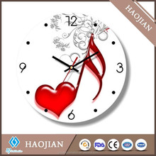 "8"" glass clock with coating for sublimation"