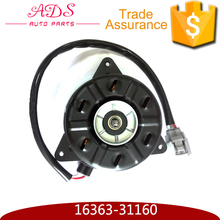 Supply 21V DC Small Denso Electric Radiator Cooling Fan Motor with OEM 16363-31160 For Toyota Lexus RX300