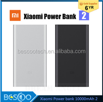 New 2016 100% Original Xiaomi Mi Power Bank 2, 10000mAh Quick Charge Portable Charger External Battery for Xiaomi mi5s