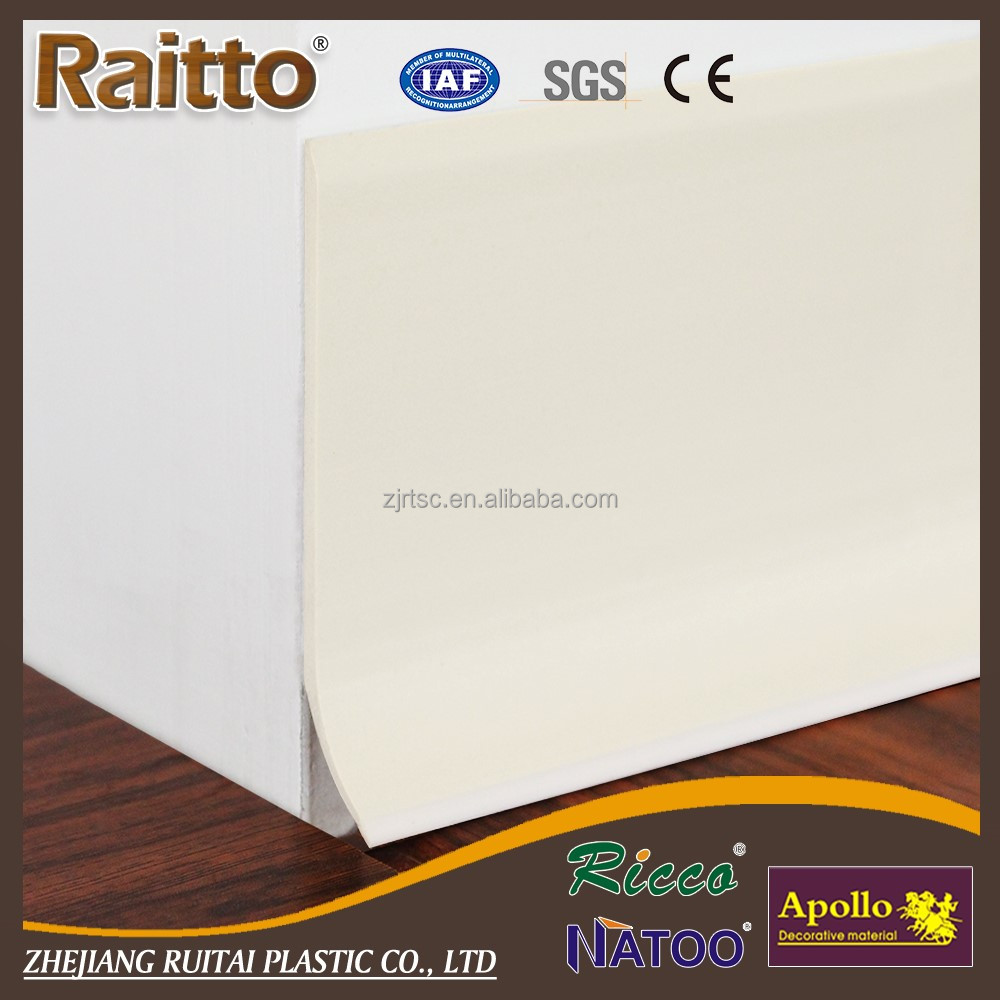 Factory PVC Rubber Skirting Board PVC Baseboard for Wholesale
