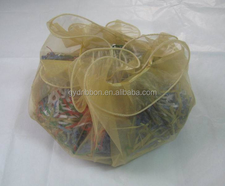 cookies wrap with gold-white organdy drawstring printed spice packing bags/jewelry wrapping bags/gift packaging