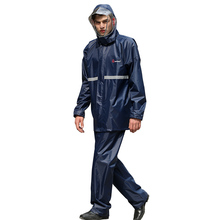 Big raincoat suit fashionable for man woman with inside pocket rain jacket an pants