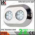 WEIKEN 120w Underwater LED Light Submersible Aquarium lamps for boat