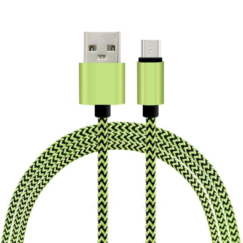 2016 hot product Twisted nylon braided usb phone charging cable charging sync data cable for promotion