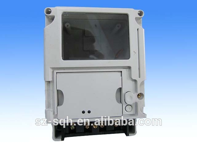 Customised plastic injection cover for electricity meter box plastic parts for electric meter box