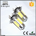Super bright H7 7.5W With Lens Aluminum Housing Fog Light Head Light ,lens fog light