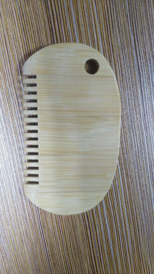 Bamboo wax comb with logo good quality