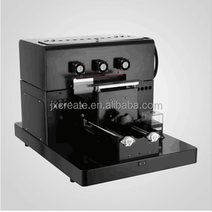 6 Ccolor A4 Size Semi-Automatic PU Leather printing machine UV LED Flatbed Printer