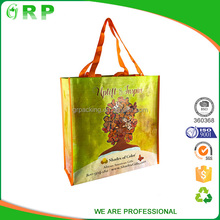 Custom take away eco-friendly handle t shirt shopping bag