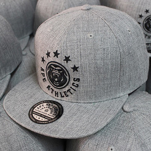 Different Color Grey Snapback, Acrylic Wool Snapback Cap,Embroidery your Logo Hats