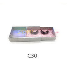 Shuying SY cardboard holographic eyelash packaging for 3D mink lashes