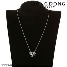 Top sale attractive style with good prices short chain white stainless steel necklace jewelry