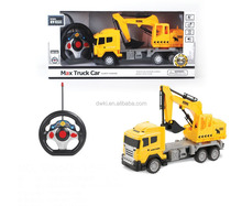 new rc construction car remote control plastic toy truck