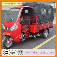 Motorized cargo box covered adult Cabin Three wheel motorcycle