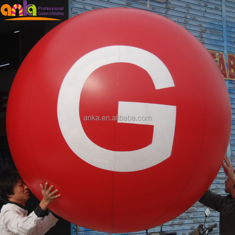 inflatable giant balloon ball with letter print for advertisement