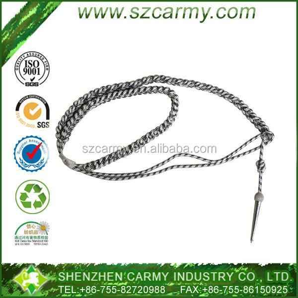 Customize professional double metal cord military ribbon