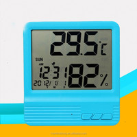 CX-301C High-accuracy LCD Digital Electronic Temperature Humidity Meter Thermometer Tester Clock Household for Indoor / Outdoor
