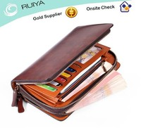 Hotselling Superior Fashion Design Genuine Leather Zipped Wallet, Clutch Bag for Men
