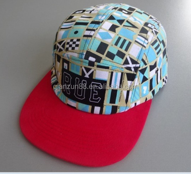 TRIBAL PATTERN 5 PANEL HAT AZTEC PRINT FABRIC FOR HAT