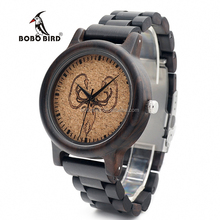 BOBO BIRD movt quartz Wolf Men Watch with free dropshipping
