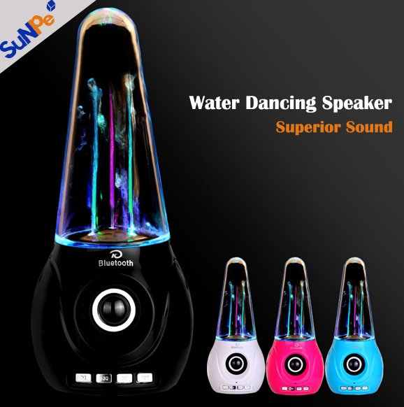 Mini USB LED Light Water Dancing Super Bass Portable Speaker For iphone ipad Computer laptop MP3 MP4