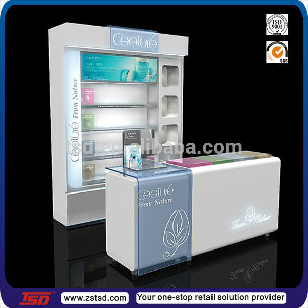 Perfume Tester Display: Tsd-w018 Custom Retail Store Tester Furnitures For Cosmetic Display,Cosmetics Shop Decoration