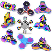 Coloful Fidget Spinner Fidget Hand Tri Spinner Metal EDC Toy Stocking Stuffer Gift