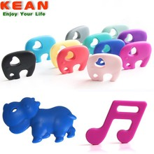 free sample Custom Made Baby Teething Toys BPA Free Food Grade Silicone Teether