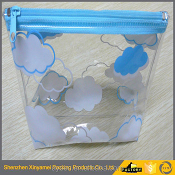 china alibaba portable toilet vinyl pvc clear bag Transparent PVC Cosmetic Bag with Zipper