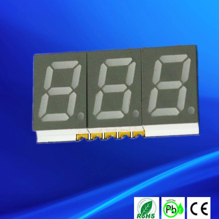 0.39 inch 3 digit 7 segments smd led displays