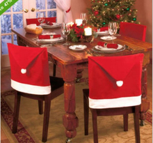 New Arrival Chirstmas Hat Style Chair Cover for Xmas 23.4 inches x19.5 inches
