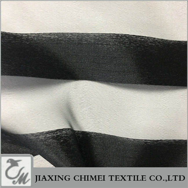 black strip yarn dyed organza for Home Textile